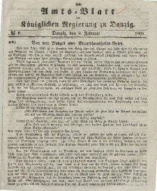 Amts-Blatt der Königlichen Regierung zu Danzig, 8. Februar 1865, Nr. 6