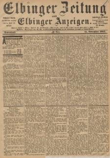 Elbinger Zeitung und Elbinger Anzeigen, Nr. 274 Sonnabend 21. November 1885