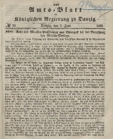 Amts-Blatt der Königlichen Regierung zu Danzig, 7. Juni 1865, Nr. 23