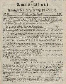 Amts-Blatt der Königlichen Regierung zu Danzig, 16. August 1865, Nr. 33