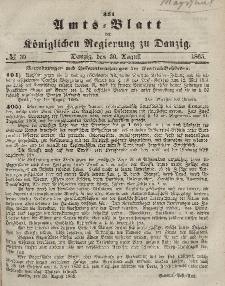 Amts-Blatt der Königlichen Regierung zu Danzig, 30. August 1865, Nr. 35