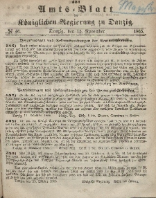 Amts-Blatt der Königlichen Regierung zu Danzig, 15. November 1865, Nr. 46