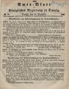 Amts-Blatt der Königlichen Regierung zu Danzig, 13. Dezember 1865, Nr. 50