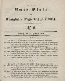 Amts-Blatt der Königlichen Regierung zu Danzig, 13.Januar 1859, Nr. 2