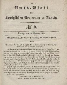 Amts-Blatt der Königlichen Regierung zu Danzig, 19. Januar 1859, Nr. 3