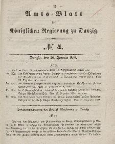 Amts-Blatt der Königlichen Regierung zu Danzig, 26. Januar 1859, Nr. 4