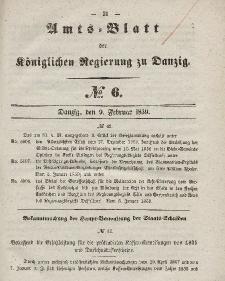 Amts-Blatt der Königlichen Regierung zu Danzig, 9. Februar 1859, Nr. 6