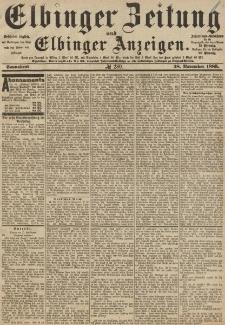 Elbinger Zeitung und Elbinger Anzeigen, Nr. 280 Sonnabend 28. November 1885