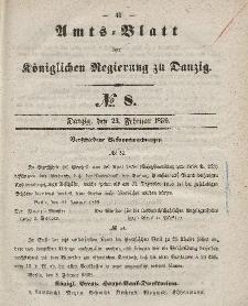Amts-Blatt der Königlichen Regierung zu Danzig, 23. Februar 1859, Nr. 8