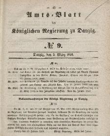 Amts-Blatt der Königlichen Regierung zu Danzig, 2. März 1859, Nr. 9