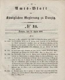 Amts-Blatt der Königlichen Regierung zu Danzig, 13. April 1859, Nr. 15