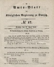 Amts-Blatt der Königlichen Regierung zu Danzig, 27. April 1859, Nr. 17