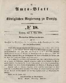 Amts-Blatt der Königlichen Regierung zu Danzig, 4. Mai 1859, Nr. 18