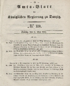Amts-Blatt der Königlichen Regierung zu Danzig, 11. Mai 1859, Nr. 19