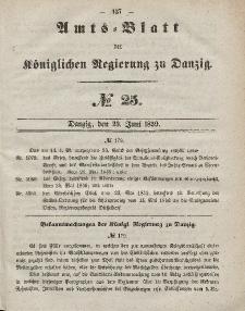Amts-Blatt der Königlichen Regierung zu Danzig, 23. Juni 1859, Nr. 25