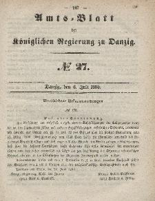 Amts-Blatt der Königlichen Regierung zu Danzig, 6. Juli 1859, Nr. 27