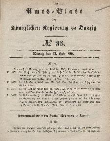 Amts-Blatt der Königlichen Regierung zu Danzig, 13. Juli 1859, Nr. 28