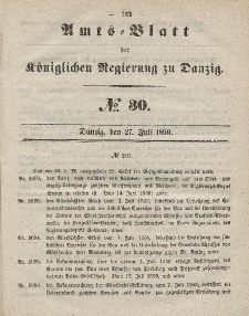 Amts-Blatt der Königlichen Regierung zu Danzig, 27. Juli 1859, Nr. 30