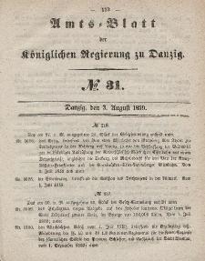 Amts-Blatt der Königlichen Regierung zu Danzig, 3. August 1859, Nr. 31