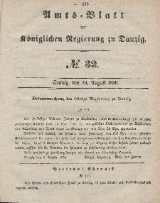 Amts-Blatt der Königlichen Regierung zu Danzig, 10. August 1859, Nr. 32