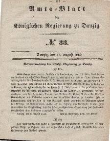 Amts-Blatt der Königlichen Regierung zu Danzig, 17. August 1859, Nr. 33