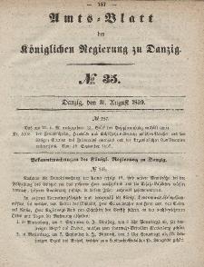 Amts-Blatt der Königlichen Regierung zu Danzig, 31. August 1859, Nr. 35