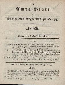 Amts-Blatt der Königlichen Regierung zu Danzig, 7. September 1859, Nr. 36