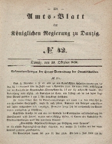 Amts-Blatt der Königlichen Regierung zu Danzig, 19. Oktober 1859, Nr. 42