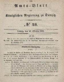 Amts-Blatt der Königlichen Regierung zu Danzig, 26. Oktober 1859, Nr. 43