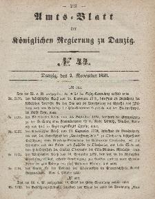 Amts-Blatt der Königlichen Regierung zu Danzig, 2. November 1859, Nr. 44