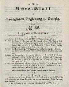 Amts-Blatt der Königlichen Regierung zu Danzig, 30. November 1859, Nr. 48