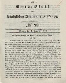 Amts-Blatt der Königlichen Regierung zu Danzig, 7. Dezember 1859, Nr. 49