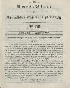Amts-Blatt der Königlichen Regierung zu Danzig, 14. Dezember 1859, Nr. 50
