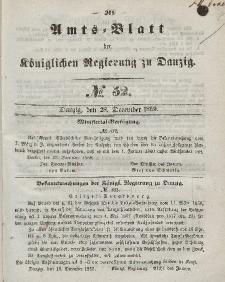 Amts-Blatt der Königlichen Regierung zu Danzig, 28. Dezember 1859, Nr. 52