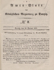 Amts-Blatt der Königlichen Regierung zu Danzig, 20. Januar 1858, Nr. 3
