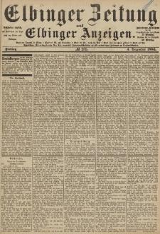 Elbinger Zeitung und Elbinger Anzeigen, Nr. 285 Freitag 4. Dezember 1885