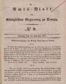 Amts-Blatt der Königlichen Regierung zu Danzig, 24. Februar 1858, Nr. 8