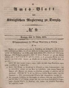 Amts-Blatt der Königlichen Regierung zu Danzig, 3. März 1858, Nr. 9