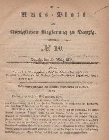 Amts-Blatt der Königlichen Regierung zu Danzig, 10. März 1858, Nr. 10