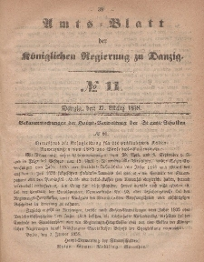 Amts-Blatt der Königlichen Regierung zu Danzig, 17. März 1858, Nr. 11