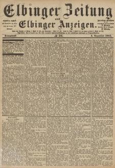 Elbinger Zeitung und Elbinger Anzeigen, Nr. 286 Sonnabend 5. Dezember 1885