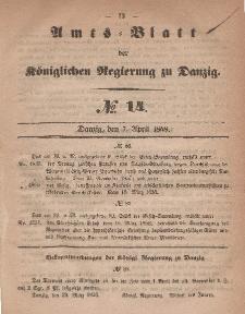 Amts-Blatt der Königlichen Regierung zu Danzig, 7. April 1858, Nr. 14
