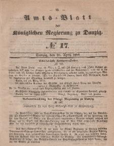 Amts-Blatt der Königlichen Regierung zu Danzig, 28. April 1858, Nr. 17