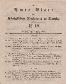 Amts-Blatt der Königlichen Regierung zu Danzig, 5. Mai 1858, Nr. 18