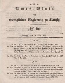 Amts-Blatt der Königlichen Regierung zu Danzig, 19. Mai 1858, Nr. 20