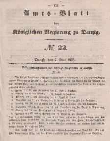 Amts-Blatt der Königlichen Regierung zu Danzig, 2. Juni 1858, Nr. 22