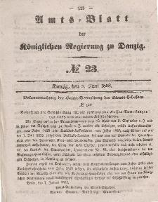 Amts-Blatt der Königlichen Regierung zu Danzig, 9. Juni 1858, Nr. 23