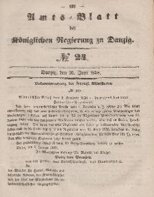 Amts-Blatt der Königlichen Regierung zu Danzig, 16. Juni 1858, Nr. 24