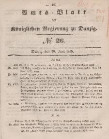 Amts-Blatt der Königlichen Regierung zu Danzig, 30. Juni 1858, Nr. 26