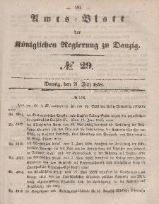 Amts-Blatt der Königlichen Regierung zu Danzig, 21. Juli 1858, Nr. 29